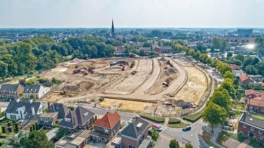 Vooral veel zand in het Kloosterkwartier eind augustus.