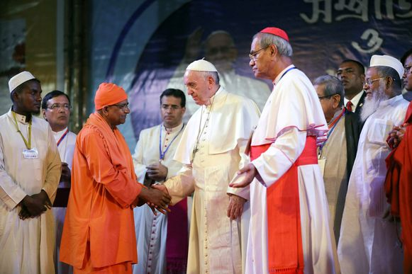 Paus Franciscus in Bangladesh.