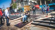 Eindelijk ook met rolstoel tot op pontons van Polé Polé