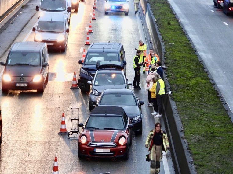 Bij het ongeval waren vier wagens betrokken.