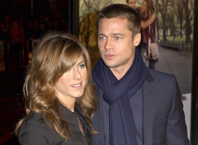 Jennifer Aniston en Brad Pitt in 2005