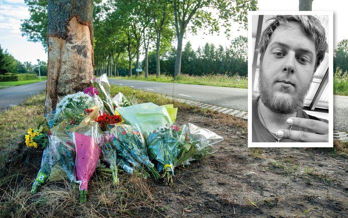 Links een foto van de plek van het ongeluk. Rechts Albert-Jan uit Meppel.