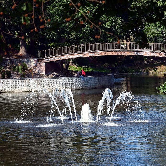 Fontein in het Anton van Duinkerkenpark.