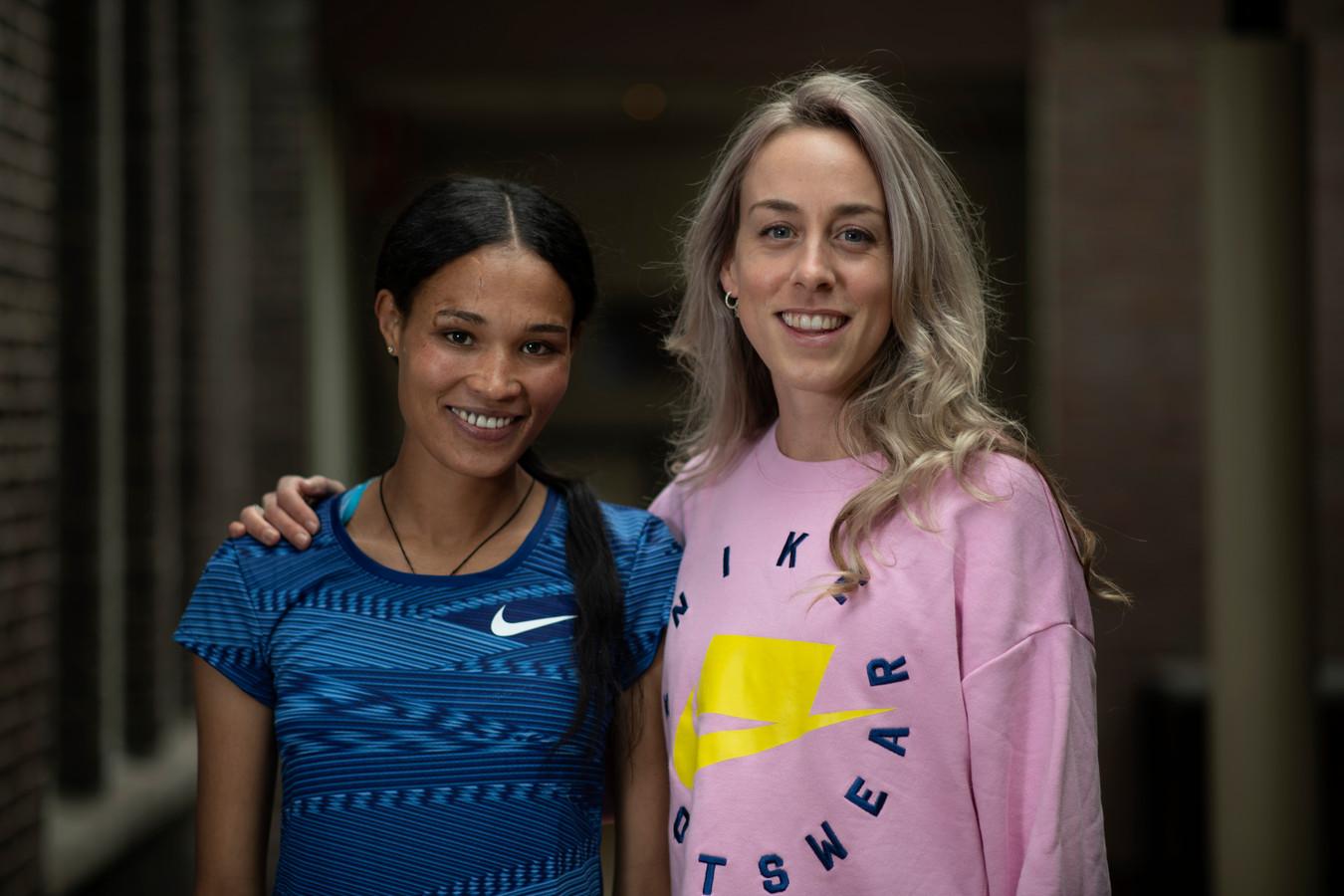 Letensebet Gidey met Susan Krumins.