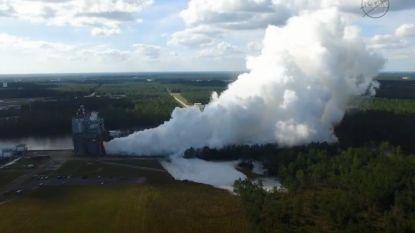 Spectaculaire test van raketmotor voor missie naar Mars