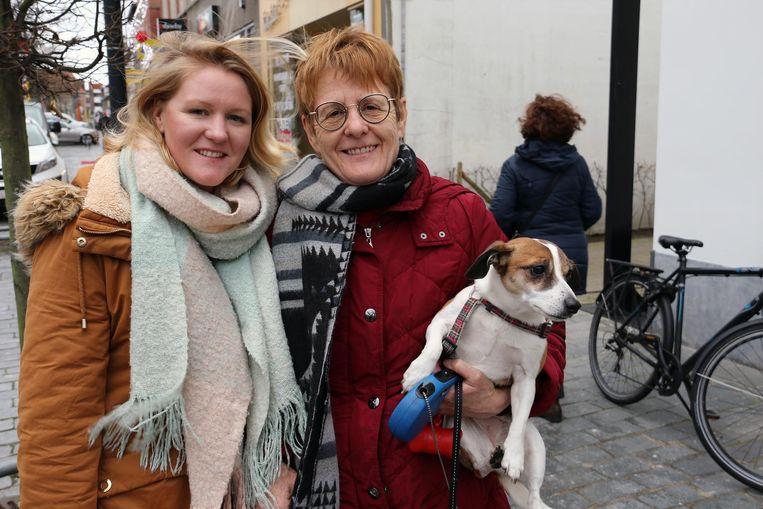 Hilde Valkenaers met haar mama Ria Aerts.