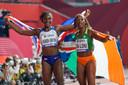 Ta Lou (rechts) geeft ook forfait voor de 200 meter.