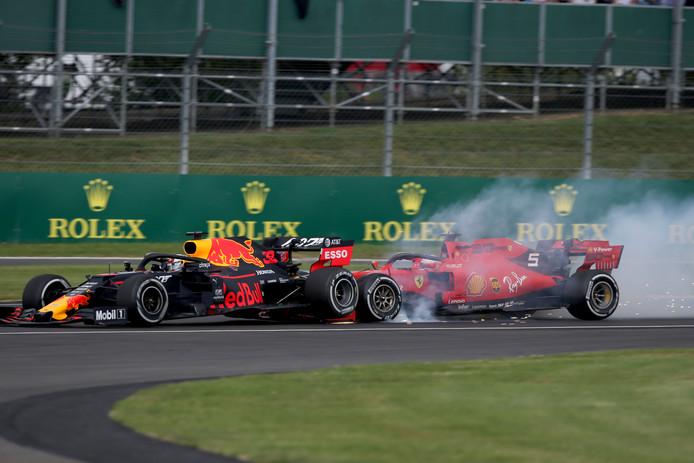 Max Verstappen liep een podiumplaats mis door een fout van Sebastian Vettel.