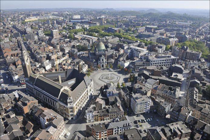 La ville de Charleroi vue du ciel