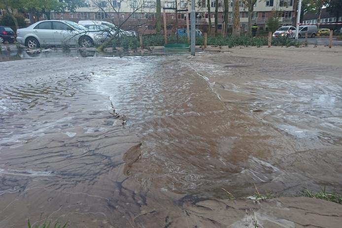 De wateroverlast aan de Hulsbeek in Ede.