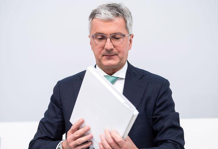De CEO van Audi AG, Rupert Stadler, eerder dit jaar tijdens de jaarlijkse aandeelhoudersvergadering