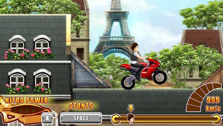 Coureur maakt Parijs onveilig in Uphill Rush 3. (Beeld Spill Games) Beeld