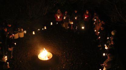 Lichtjes voor overleden kindjes