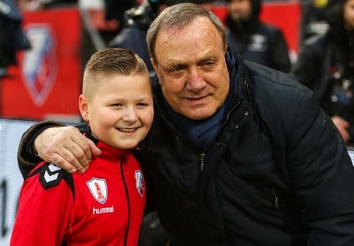 Pietje ontmoet Dick Advocaat bij FC Utrecht