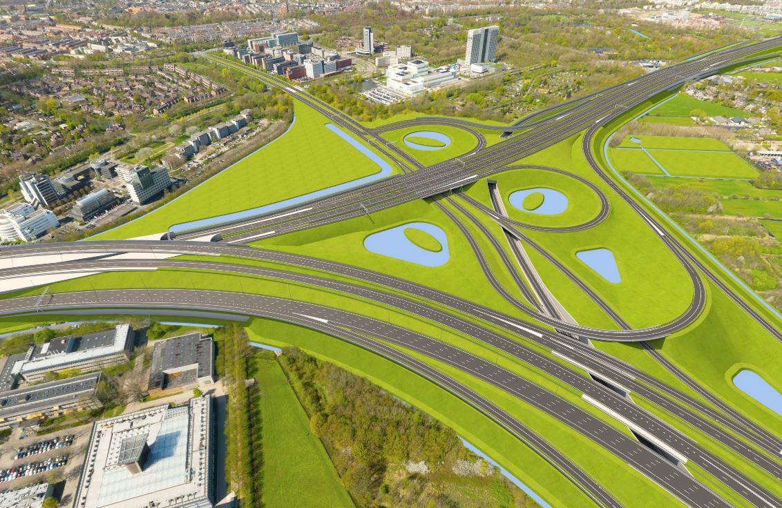 Knooppunt Rijnsweerd (A27 en A28) bij Utrecht wordt ingrijpend vernieuwd.