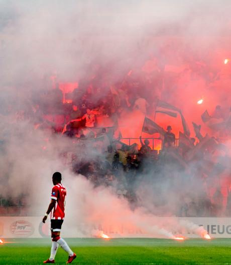 Mannen opgepakt voor gooien met fakkels tijdens wedstrijden van PSV