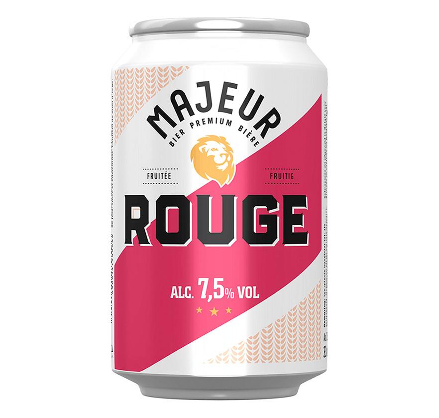 """La bière """"Majeur"""" goût cerise."""