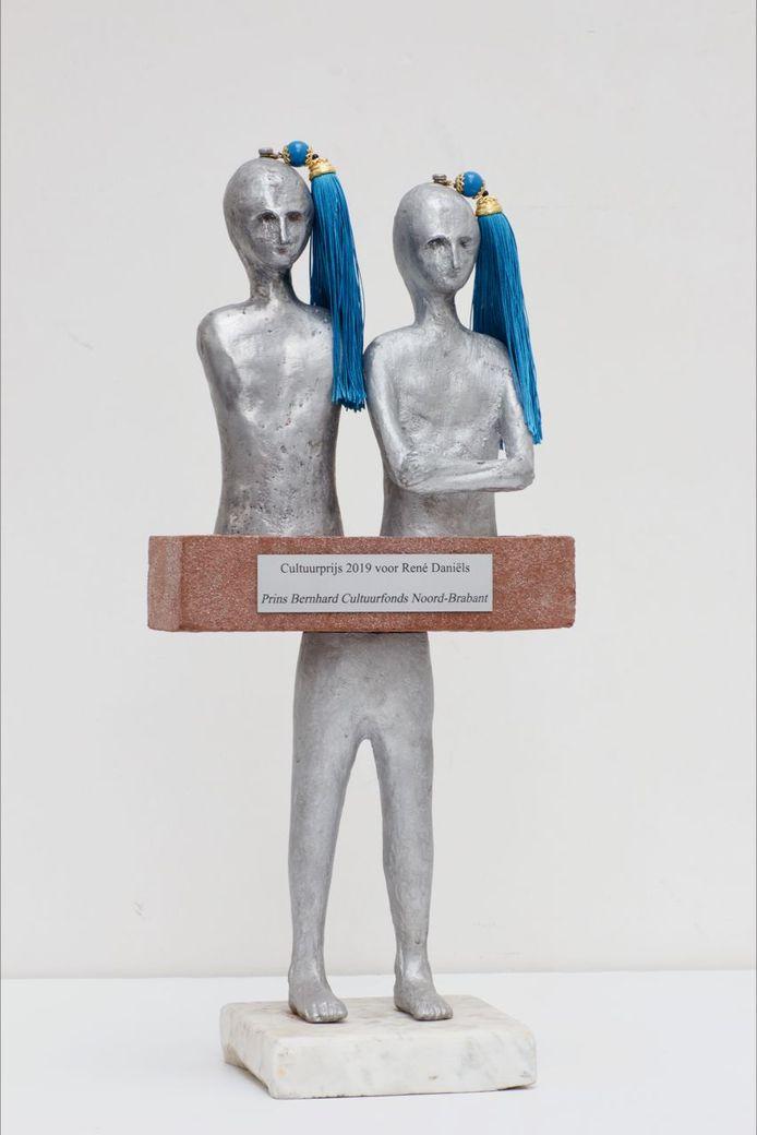 Het beeld van Henk Visch voor René Daniëls.