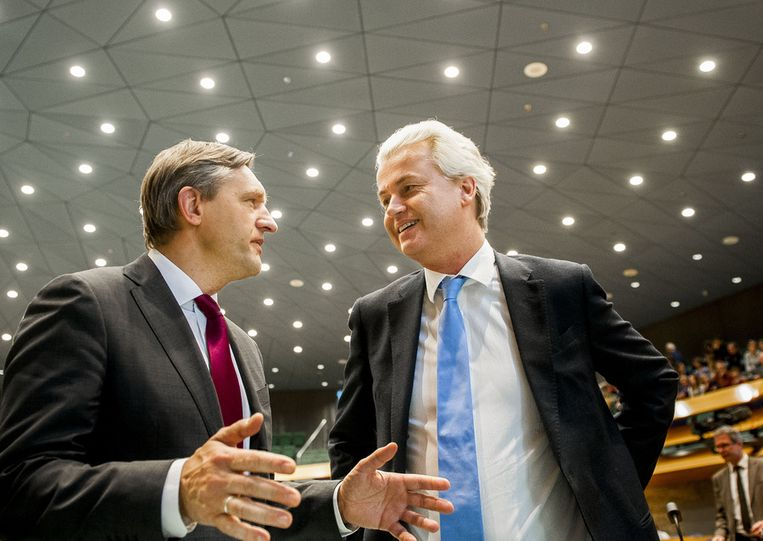 Buma en Wilders. Beeld ANP