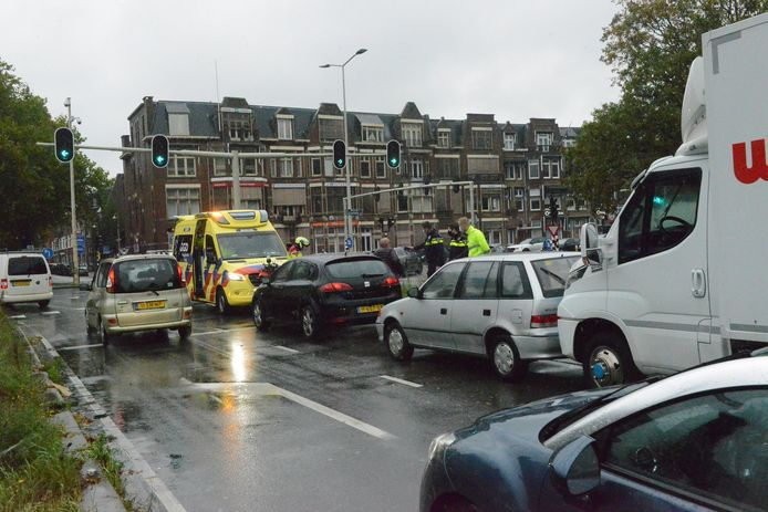 Ongeluk bij de Utrechtsebaan.