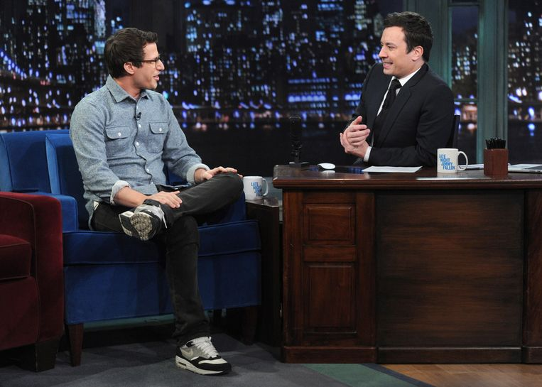 Jimmy Fallon nog in zijn vorige talkshow: Late Night. Beeld getty