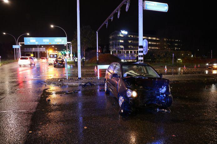 Wederom een ongeval op de IJsselallee in Zwolle.