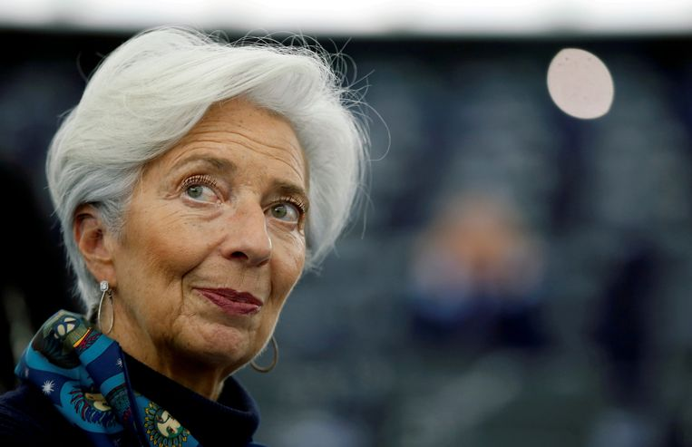 ECB-baas Christine Lagarde. Beeld Reuters