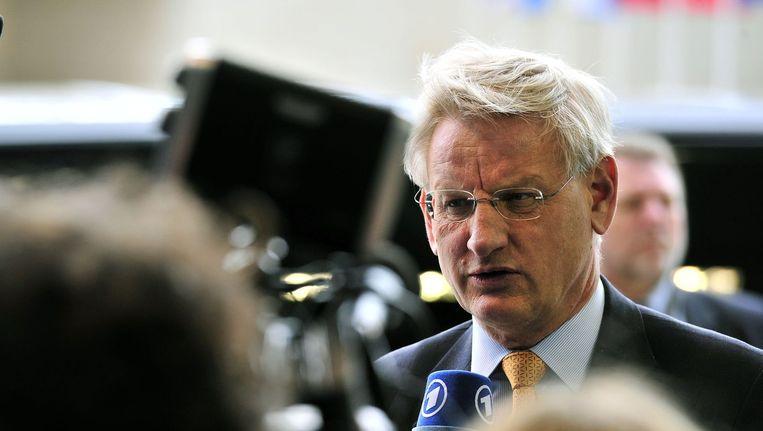 De Zweedse minister van Buitenlandse Zaken Carl Bildt.