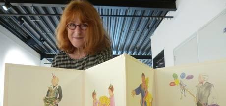 Herpense Annie Meussen illustreert 'uitklapkinderboek' en exposeert in Zaans Museum