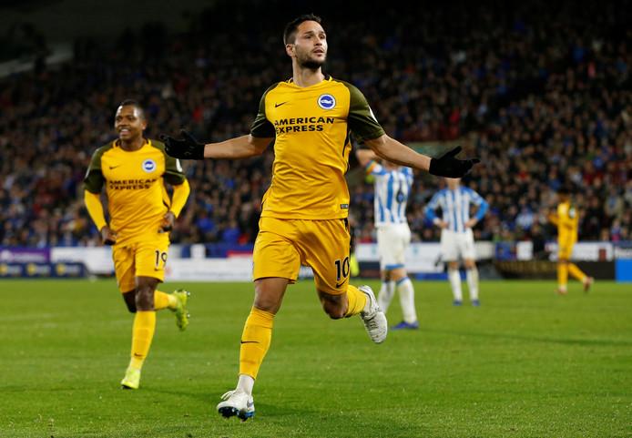 Andone viert de 1-2 van Brighton.