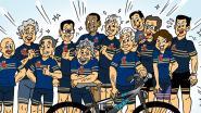 De Turfbikers vereeuwigd in een striptekening