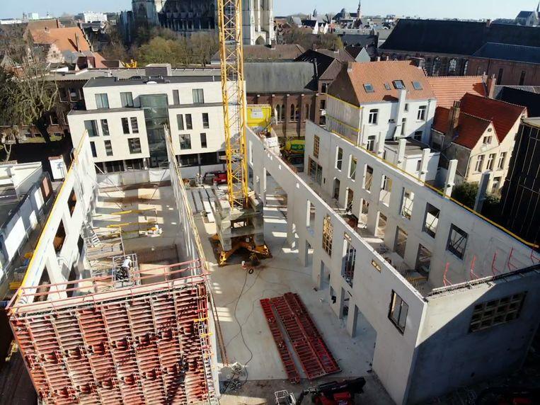 De werf van de TSM in Mechelen.