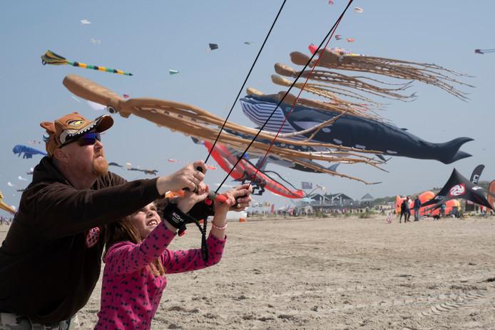 Het vliegerfestival op het strand bij Our Seaside vorig jaar.