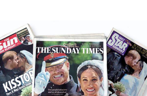 **Britse kranten smullen van Harry's huwelijk: 'HARRY EVER AFTER', 'GOD BLESS!'**