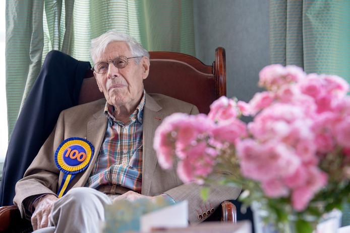 Flip Trooster tijdens zijn honderdste verjaardag, afgelopen zomer.