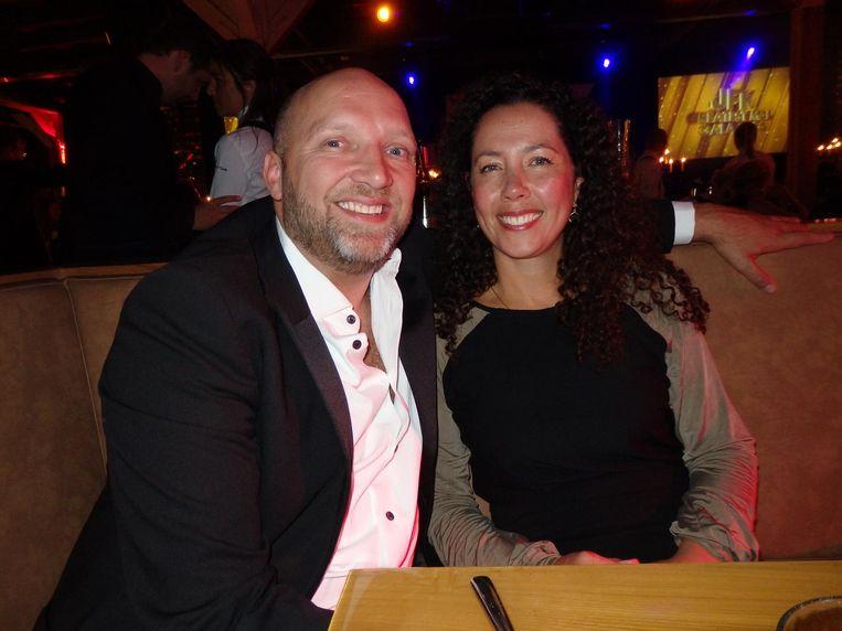 Acteur Ruben van der Meer en zijn vrouw Sally Lodewijks Beeld Schuim
