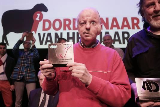 Piet de Meer werd Dordtenaar van het jaar in 2016.