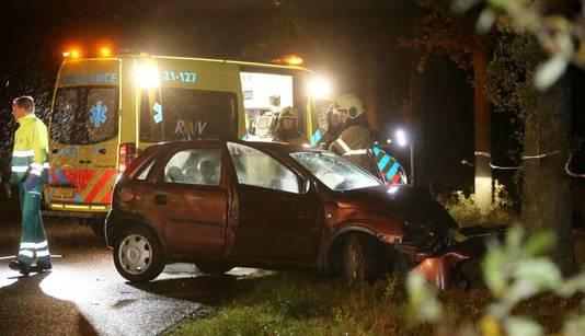 Dodelijk ongeval in Heeswijk-Dinther aan de Hoog Beugt.