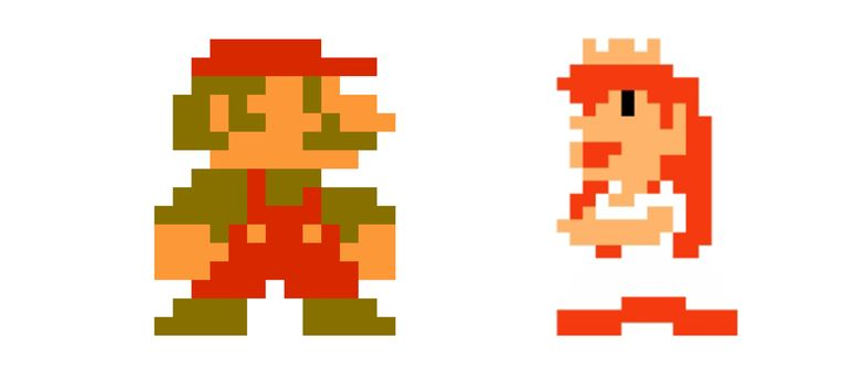 Mario met Peach. Beeld Nintendo
