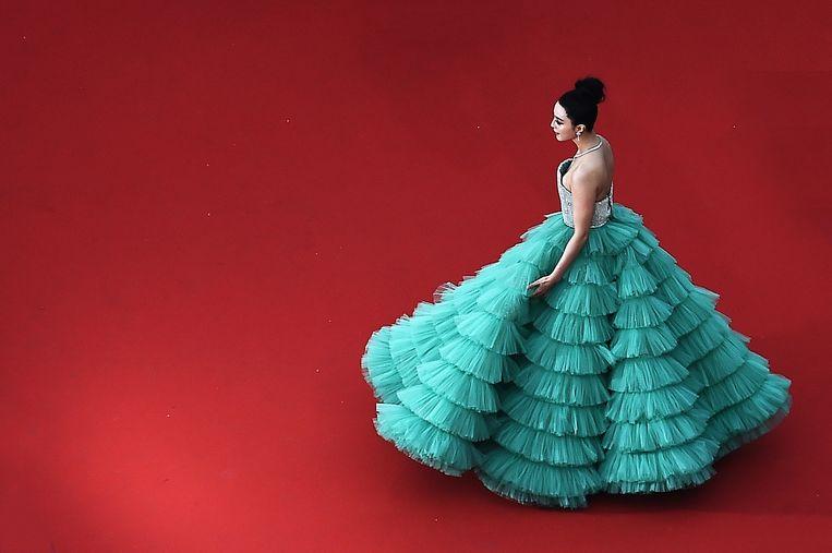 De Chinese actrice Fan Bingbing verdween in juni en dook pas begin deze maand weer op.  Beeld Getty Images