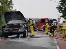 Rook van uitgebrande pick-up in Silvolde in verre omtrek te zien