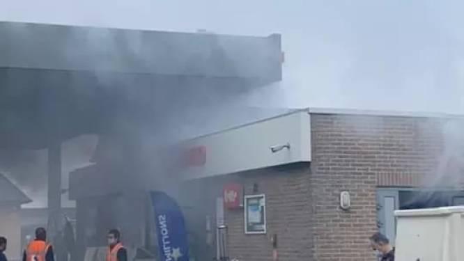 Geen brand in tankstation Total in Evergem, wel een test van de inbraakbeveiliging