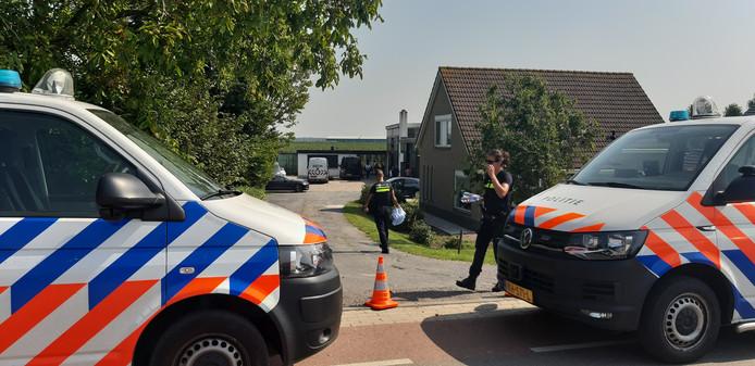 Drugslab gevonden aan de Tonsedijk in Zwingelspaan.