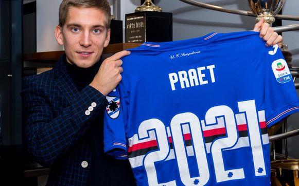 Dennis Praet verlengt tot 2021 bij Sampdoria.