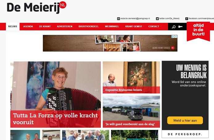Website De Meierij.
