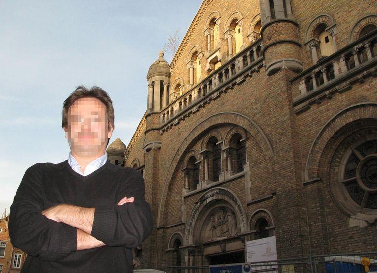 Luc F. - hier bij het Egliseum - , en zijn partner Vera M., werden in eerste aanleg vrijgesproken bij gebrek aan bewijs dat ze ter kwade trouw handelden.