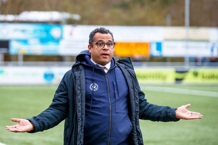 AFC-trainer Uli Landvreugd.     2e divisie 2019/2020 L/R Beeld BSR Agency