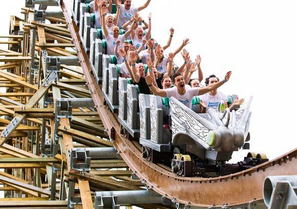 Deelnemers aan de tweede editie van de Rollercoaster Run in Biddinghuizen.