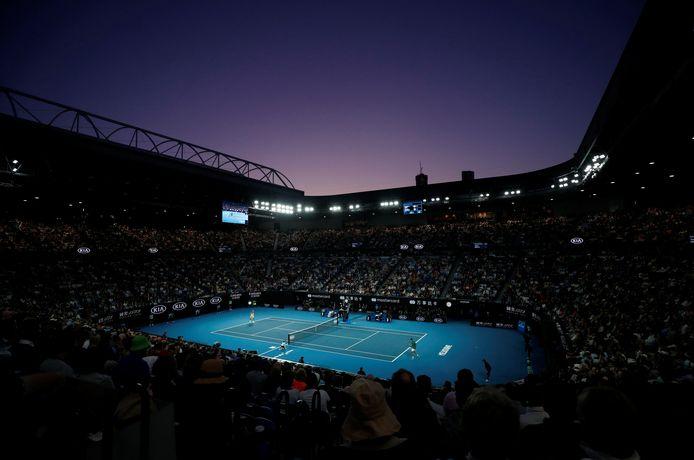 De finale van de Australian Open van dit jaar, met publiek.