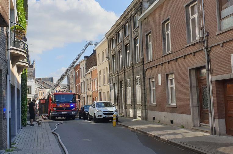 Door de brand was de Vredestraat afgesloten voor het verkeer.